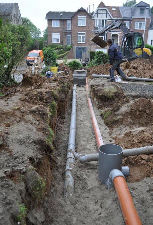Massaert BVBA - Plaatsing van een regenwaterput