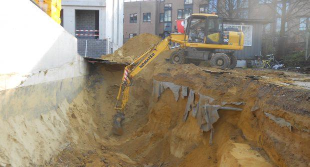 uitgraven bouwput Sint-Stevens - Woluwe