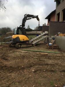 Bogaarden betonnen prefab trap niveauverschil oplossen
