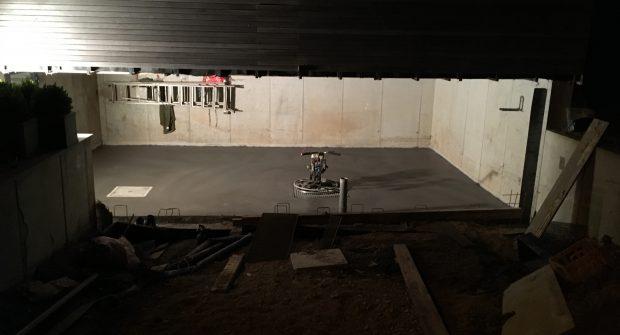 Polybeton gepolierde gepolijste garage vloer Vlezenbeek
