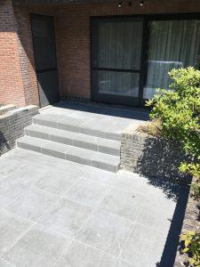 Lennik keramische tegels terras trap