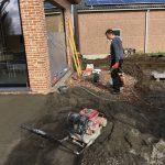 Meise terras keramische tegels funderingswerk terras 1 - Massaert bvba