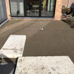 Meise terras keramische tegels funderingswerk terras 2 - Massaert bvba