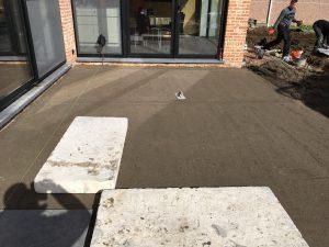 Meise terras keramische tegels funderingswerk terras 2
