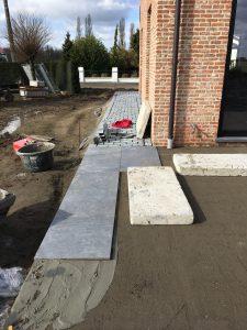 Meise terras keramische tegels funderingswerk terras 3
