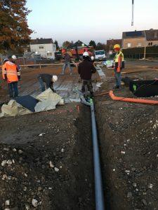 Melle rioleringswerken aanleg basisschool en turnzaal_0249