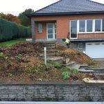 Vlezenbeek sifonput L-profielen, Keerwanden oprit klinkers voortuin afbraak tuinmuur uitgraven stookolieketel_0166 - Massaert bvba