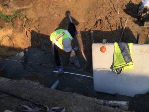 Vlezenbeek sifonput L-profielen, Keerwanden oprit klinkers voortuin afbraak tuinmuur uitgraven stookolieketel_0202_0199