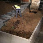 Vlezenbeek sifonput L-profielen, Keerwanden oprit klinkers voortuin afbraak tuinmuur uitgraven stookolieketel_0202_0224 - Massaert bvba