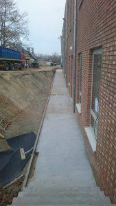 aanleg buitentrap beton Gooik_1248