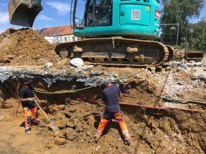 aanleg hoofdriolering Sint-Pieters-Leeuw verkaveling_4100 2