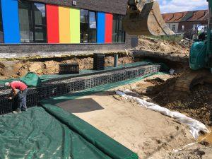 aanleg infiltratiekratten Sint-Pieters-Leeuw verkaveling_4075 2
