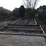 bekisting gepolierd beton aanleg staptegels Dilbeek - Massaert bvba