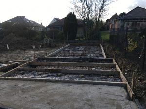bekisting gepolierd beton aanleg staptegels Dilbeek