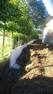 plaatsing keerwanden l-profielen tuin Vlezenbeek_0687