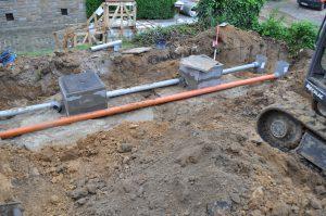 project gescheiden riolering afvoer RWA DWA Dilbeek regenwaterput_0591