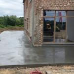 terras in gepolierd beton Vlezenbeek - Massaert bvba