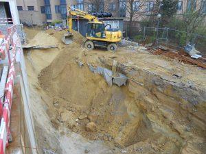 uitgraven bouwput Sint-Stevens-Woluwe hotel