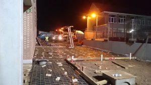 voorbereiding storten gewapend beton gepolierd basisschool Gooik wapeningsnetten bekisting