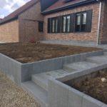 aanleg buitentrap pad voordeur kassei terras oprit grind - Massaert bvba