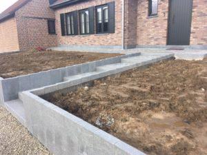 aanleg buitentrap pad voordeur kassei terras oprit grind 10