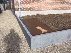aanleg buitentrap pad voordeur kassei terras oprit grind stabilisatiematten Vlezenbeek0