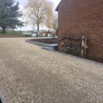 aanleg buitentrap pad voordeur kassei terras oprit grind stabilisatiematten Vlezenbeek6 - Massaert bvba