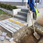 aanleg buitentrap kandla kasseien Vlezenbeek 1 - Massaert bvba