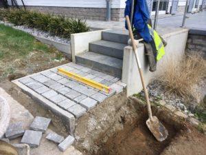 aanleg buitentrap kandla kasseien Vlezenbeek 1