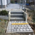 aanleg buitentrap kandla kasseien Vlezenbeek 2 - Massaert bvba