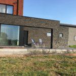 aanleg gangpad rond villa en terras keramische tegels Cimenti Midnight 80x80 Sint-Pieters-Leeuw_1041 - Massaert bvba