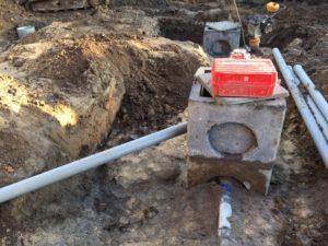 aanleg gescheiden rioleringsstelsel Schepdaal infiltratieput hemelwaterput septische put 1