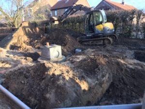 aanleg gescheiden rioleringsstelsel Schepdaal infiltratieput hemelwaterput septische put 3