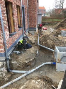 aanleg gescheiden rioleringsstelsel Schepdaal infiltratieput hemelwaterput septische put_0734