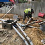 aanleg gescheiden rioleringsstelsel Vlezenbeek met infiltratieput hemelwaterput septische put_0761 - Massaert bvba