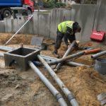 aanleg gescheiden rioleringsstelsel Vlezenbeek met infiltratieput hemelwaterput septische put_0762 - Massaert bvba