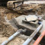 aanleg gescheiden rioleringsstelsel Vlezenbeek met infiltratieput hemelwaterput septische put_0763 - Massaert bvba