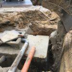 aanleg gescheiden rioleringsstelsel Vlezenbeek met infiltratieput hemelwaterput septische put_0765 - Massaert bvba