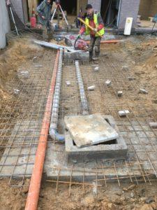 aanleg gescheiden rioleringsstelsel Vlezenbeek met infiltratieput hemelwaterput septische put_0767