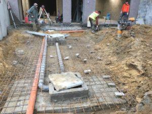 aanleg gescheiden rioleringsstelsel Vlezenbeek met infiltratieput hemelwaterput septische put_0768