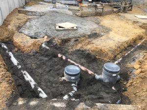 aanleg gescheiden rioleringsstelsel Vlezenbeek met infiltratieput hemelwaterput septische put_0775