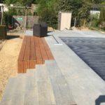 aanleg terras zwembad trap tropisch hardhout Vlezenbeek_1157 - Massaert bvba