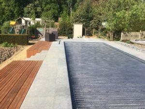 aanleg terras zwembad trap tropisch hardhout Vlezenbeek_1158