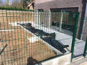 aanleg tuinafsluiting Sint-Pieters-Leeuw 3
