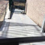 aanleg zijpadje naar tuin Ardena Grey 60x60 keramische tegel trapblok Dark Cloud Sint-Pieters-Leeuw - Massaert bvba