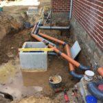 gescheiden riolering met hemelwaterciterne en septische put Sint-Pieters-Leeuw 8 - Massaert bvba