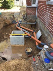 gescheiden riolering met hemelwaterciterne en septische put Sint-Pieters-Leeuw 8